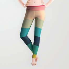 Colorful Timeless Stripes Totetsu Leggings