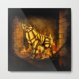 Gullinbursti the Golden Boar Metal Print
