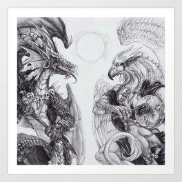 Two Shamans Art Print