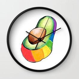 the gay avocado Wall Clock