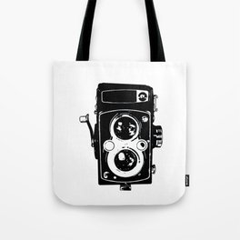 Big Vintage Camera Love - Black Tote Bag