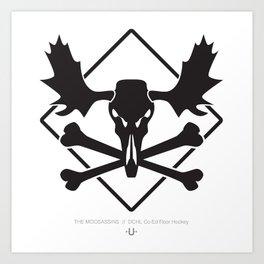 THE MOOSASSINS  //  Dchl Co-Ed Floor Hockey Art Print