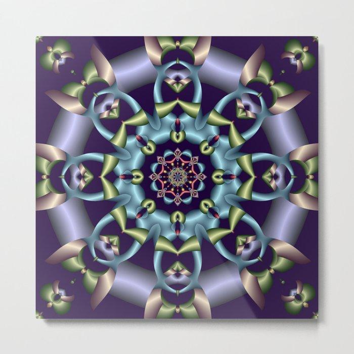 Silky pastel kaleidoscop Metal Print