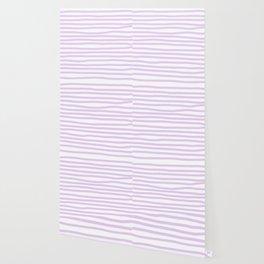 Lilac Stripes Horizontal Wallpaper