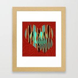 Love Exotic Hearts Framed Art Print