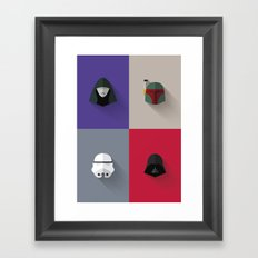 SW The Bad Guys - Minimalist Poster Framed Art Print