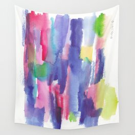 180812 Abstract Watercolour Expressionism 6  Colorful Abstract   Modern Watercolor Art Wall Tapestry