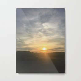 moody sunset i Metal Print