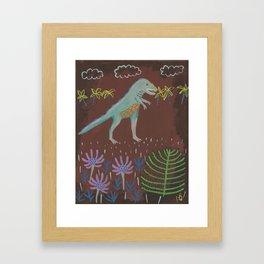 Prehistoric Friend Framed Art Print