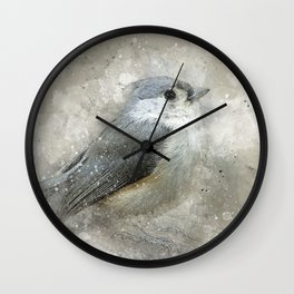 Tufted Titmouse Bird Wall Clock