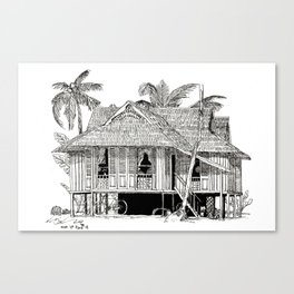 Rumah Kampung (Large) Canvas Print