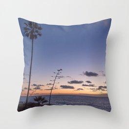 Indigo Evening Throw Pillow