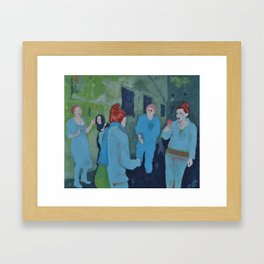 Clowns Framed Art Print