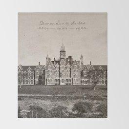 Danvers State Hospital (Danvers Lunatic Hospital), Kirkbride Throw Blanket
