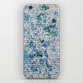 Blue and Emerald Splatter iPhone Skin