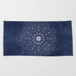 Indigo Mystique Mandala Beach Towel