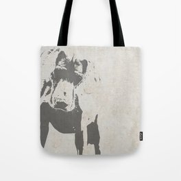 CURIOUS WEIMARANER Tote Bag