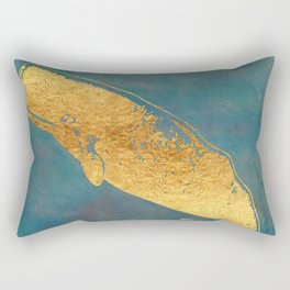 Deep Sea Life Whale Rectangular Pillow