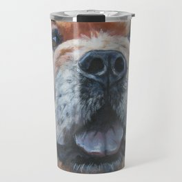 the chow chow dog portrait fine Art Dog Painting from an original painting by L.A.Shepard Travel Mug