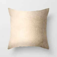 Simply White Gold Sands Throw Pillow