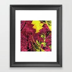 Neon Sticks Framed Art Print