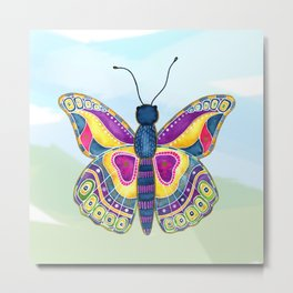 Butterfly III on a Summer Day Metal Print