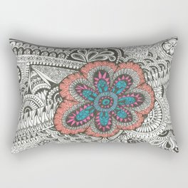 Flower-tangle Rectangular Pillow