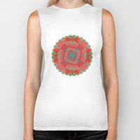 poppies Biker Tanks featuring Poppies by Imagology