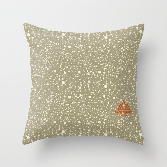 Trail Status / Beige Throw Pillow
