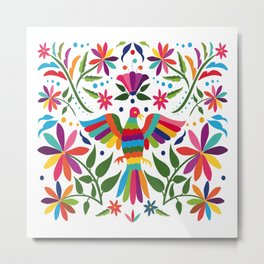 Colorful ,mexican, traditional, textile, embroidery ,style  Metal Print