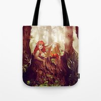 bath Tote Bags featuring Bath by DorényaDiorama