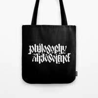 philosophy Tote Bags featuring Philosophy, Art & Science by John Langdon
