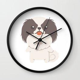 Japanese Chin Dog Gift Idea Wall Clock