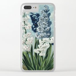 Hyacinths Botanical Plate from The Temple of Flora Clear iPhone Case