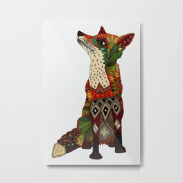 fox love off white Metal Print