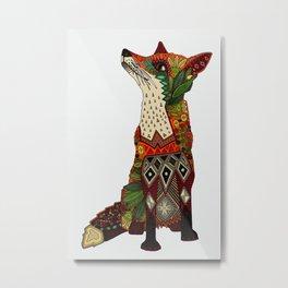 fox love off white Metal Print