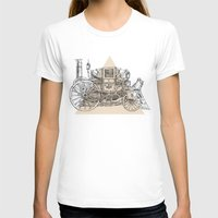 steam punk T-shirts featuring Steam punk carriage by Bakani