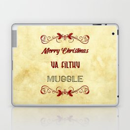 Merry Christmas ya filthy muggle Laptop & iPad Skin