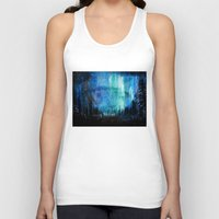 northern lights Tank Tops featuring Northern Lights by VivianLohArts