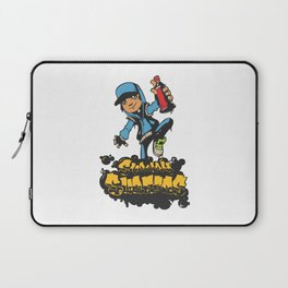 Lab No. 4 - Subway Surfers Game will take your craziness Inspirational Quotes Poster Laptop Sleeve