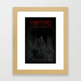 Going home from the wastelands Framed Art Print