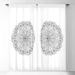 Mandala, Exhibits Radial Balance, Spiritual and Ritual Symbol Blackout Curtain