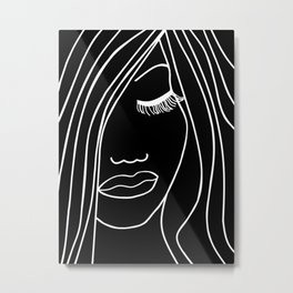 Onyx Portrait Metal Print