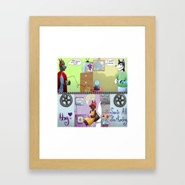 Zooming With Friends Framed Art Print