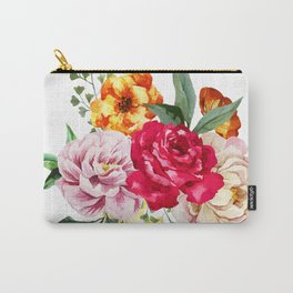 Watercolor Spring Flowers Carry-All Pouch