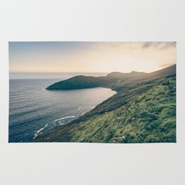 Keem Bay Sunset - nature photography Rug