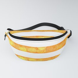 Bokeh Stripes Gold And White - Glam Fanny Pack