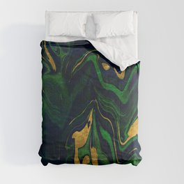 Rhapsody in Blue and Green and Gold Comforters
