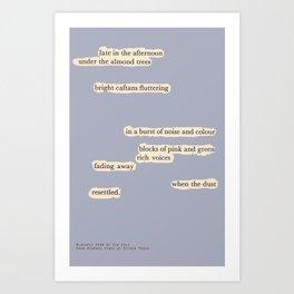 Blackout Poem {012.} Art Print