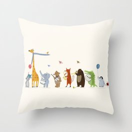 little parade Throw Pillow